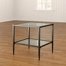 harlan shelf glass top side table with storage