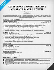Receptionist Skills List Resumes Career Infographic Sample Resume Receptionist