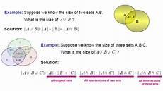 Venn Diagram Sets Calculator Elementary Set Theory Venn Diagram 3 Set Mathematics