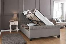 layla ottoman hopsack fabric side lift storage bed frame