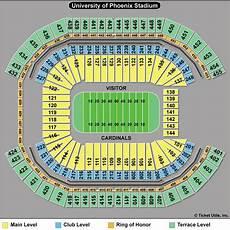 Cardinals Football Stadium Seating Chart University Of Phoenix Stadium Arizona Cardinals Football