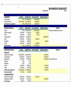 Small Business Templates Excel 11 Business Budget Templates In Excel Word Pdf Free