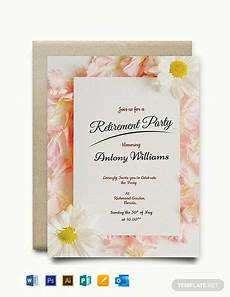 Retirement Party Invitation Template Word Free Floral Retirement Party Invitation Template Word