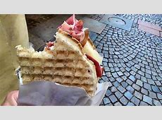 Italian Street Food. Preparing The Gofri Waffle from Turin