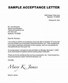 How To Write Job Acceptance Letter Free 6 Sample Job Acceptance Letter Templates In Ms Word