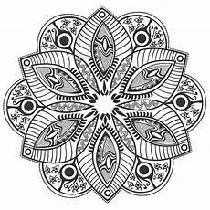 Malvorlagen Blumen Mandala Mandala Original Flower M Alas Coloring Pages