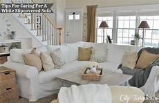 city farmhouse real with a white slipcover keeping