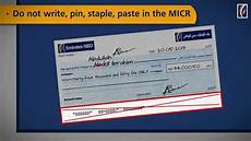 How To Write A Check Cheque Writing Do S And Dont S Emirates Nbd Youtube