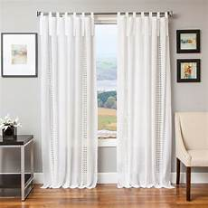 macrame curtain softline tie tab cotton and linen macrame curtain panel ebay