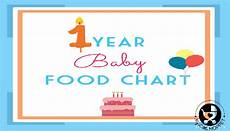 Baby Food Chart For One Year Old 1 Year Baby Food Chart