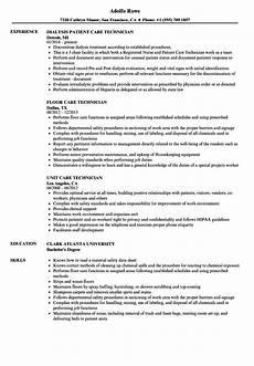 Patient Care Technician Resume Sample Care Technician Resume Samples Velvet Jobs
