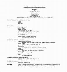 Example Of Student Resume For College Application Pin By Rose Renzales On High School Resume Template