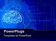 Brain Ppt Templates Powerpoint Template A Human Brain With Bluish Background