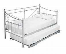 lpd 3ft single silver metal day bed frame by lpd