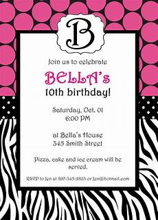 Print At Home Invitations Free Printable Zebra Invitation Template