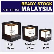 Ck Lighting Ck Lighting Gate Lamp Modern Cubic Waterproof Oudoor Gate