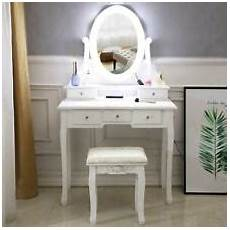 vanity set with lighted mirror 10 led bulbs makeup