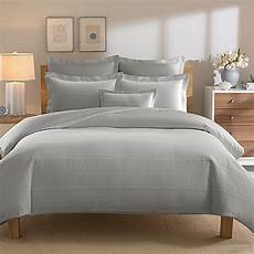 Light Grey Textured Duvet Cover Real Simple 174 Linear Grey Duvet Cover Bed Bath Amp Beyond