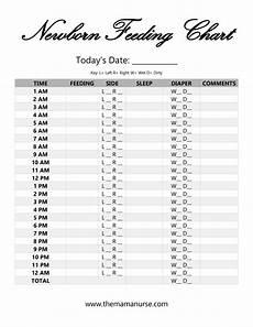 Newborn Feeding Chart Page 001 1