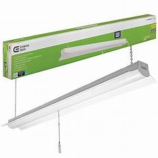 4 Ft Light Led Commercial Electric 4 Ft Bright And Cool White Integrated