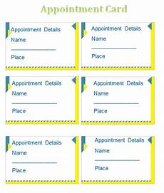 Appointment Reminder Template Word Free Appointment Card Templates Word Psd Ai