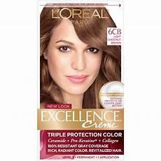 Loreal Light Chestnut Brown Amazon Com L Or 233 Al Paris Excellence Cr 233 Me Permanent Hair