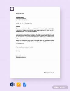 Letter For Final Payment Pending Payment Letter 8 Free Word Pdf Documents