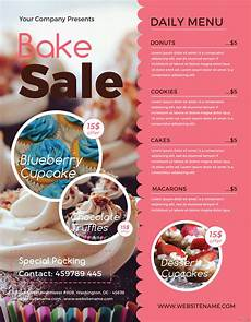 Bake Sale Template Word Free Bake Sale Flyer Template In Adobe Photoshop