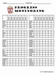 Chart For Students To Monitor Progress Reading Is Elementary Sight Word Assessments
