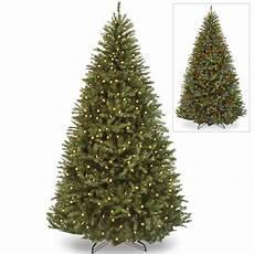 7 5 Foot Dual Light Christmas Tree 7 5 Pre Lit Downswept Hunter Fir Full Artificial