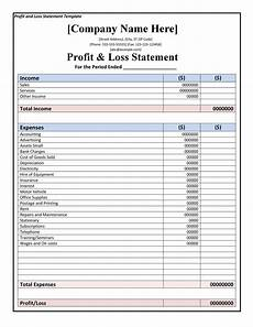 Ytd P L Template 35 Profit And Loss Statement Templates Amp Forms