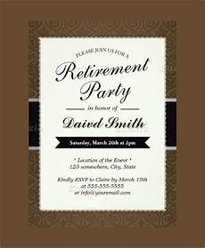 Template For Retirement Party Invitation 54 Invitation Templates Word Psd Ai