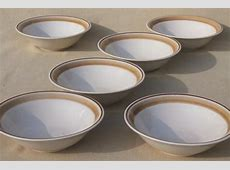 vintage Hearthside Japan stoneware pottery dishes, plain