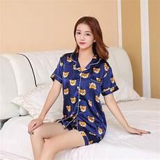 sleeve pajamas for sleeve silk pajamas suit summer pajama sets