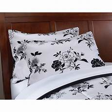 mainstays black white floral bed in a bag complete bedding