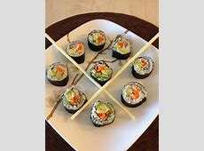 Homemade sushi  .. veggie rolls made with all organic