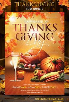 Thanksgiving Flyers 20 Best Psd Thanksgiving Flyer Templates Print Idesignow