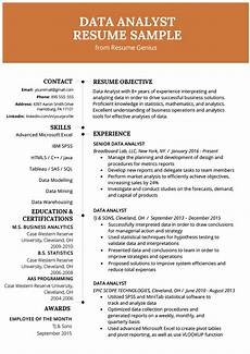 Experienced Hr Analyst Resume Data Analyst Resume Example Amp Writing Guide Business
