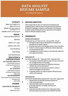 Statistics Major Resume Data Analyst Resume Example Amp Writing Guide Resume