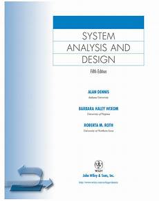 Online Title Page Maker Title Page System Analysis And Design Fifth Edition Book