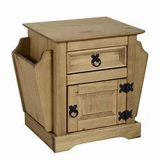 corona 1 drawer magazine table in distressed waxed pine