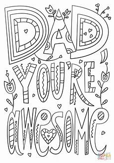 dad you re awesome coloring page free printable coloring