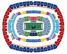Metlife Virtual Seating Chart New York Giants Seating Chart Map At Metlife Stadium