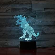 Dragon Lights Slc Discount Dragon 1 3d Optical Illusion Led Lamp Hologram The 3d