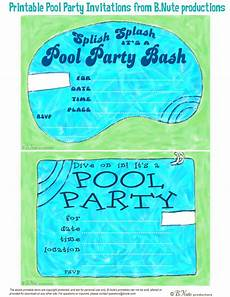 Pool Party Invites Free Printables Bnute Productions Free Printable Pool Party Invitations