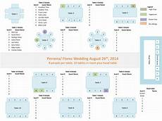 Template For Wedding Table Plan Wedding Planners Tools Powerpoint Template For Seating