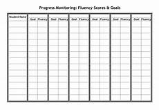Chart For Students To Monitor Progress Fluency Graphs For Progress Monitoring Building Rti
