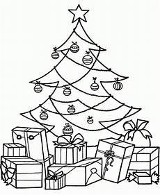 Malvorlagen Weihnachten Tannenbaum Tree With Presents Coloring Page Coloring Home
