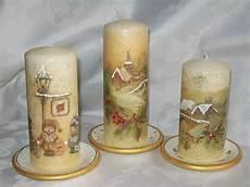 candele decoupage decoupage candele fatte in casa candele di natale