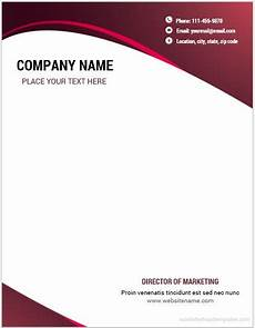 Letterhead In Word 10 Best Letterhead Templates Word 2007 Format Microsoft